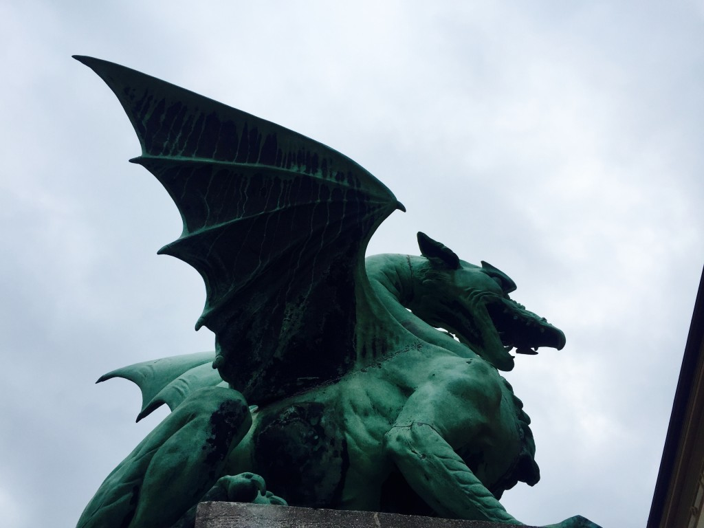 Dragon, symbol of Ljubljana. Photo by Jodie Lia
