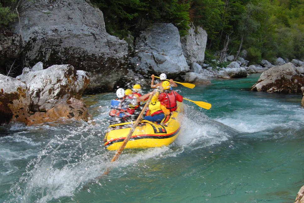Rafting on Soča river. Source: Shutterstock
