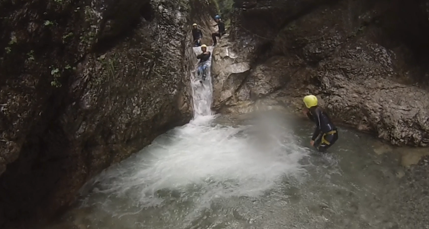 Canyoning. Author: Peter Rule