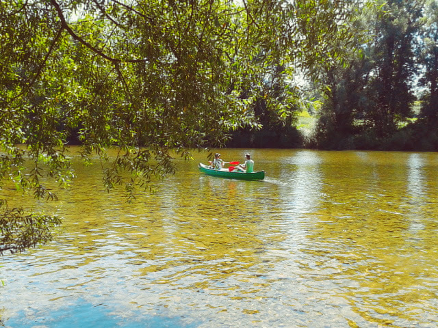 Canoeing on Kolpa river.