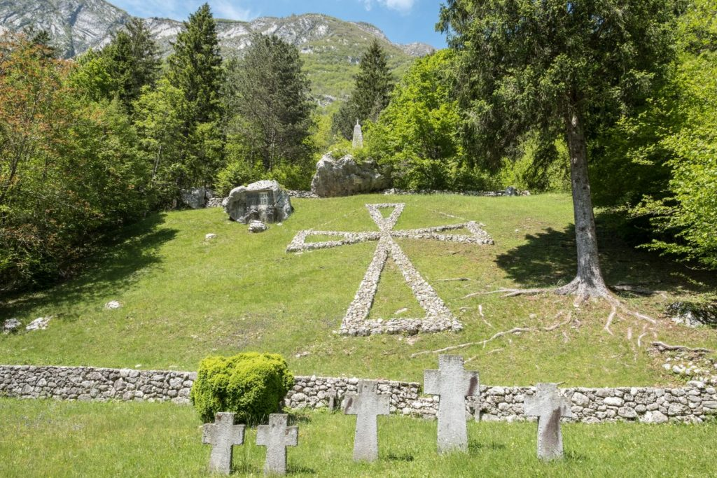 WWI memorial cemetery in Soča valley. Author: Neale Bertram