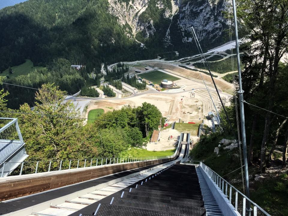 The view from the top of Planica giant ski hill. Author: Scott Phares