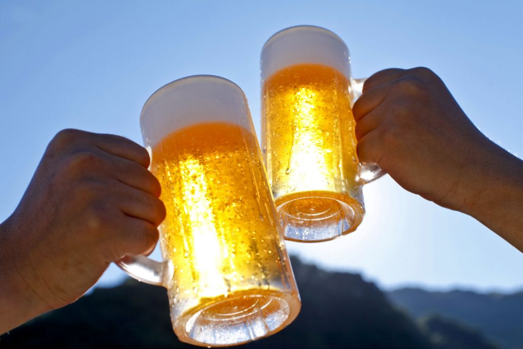 Cheers! Source: Shutterstock