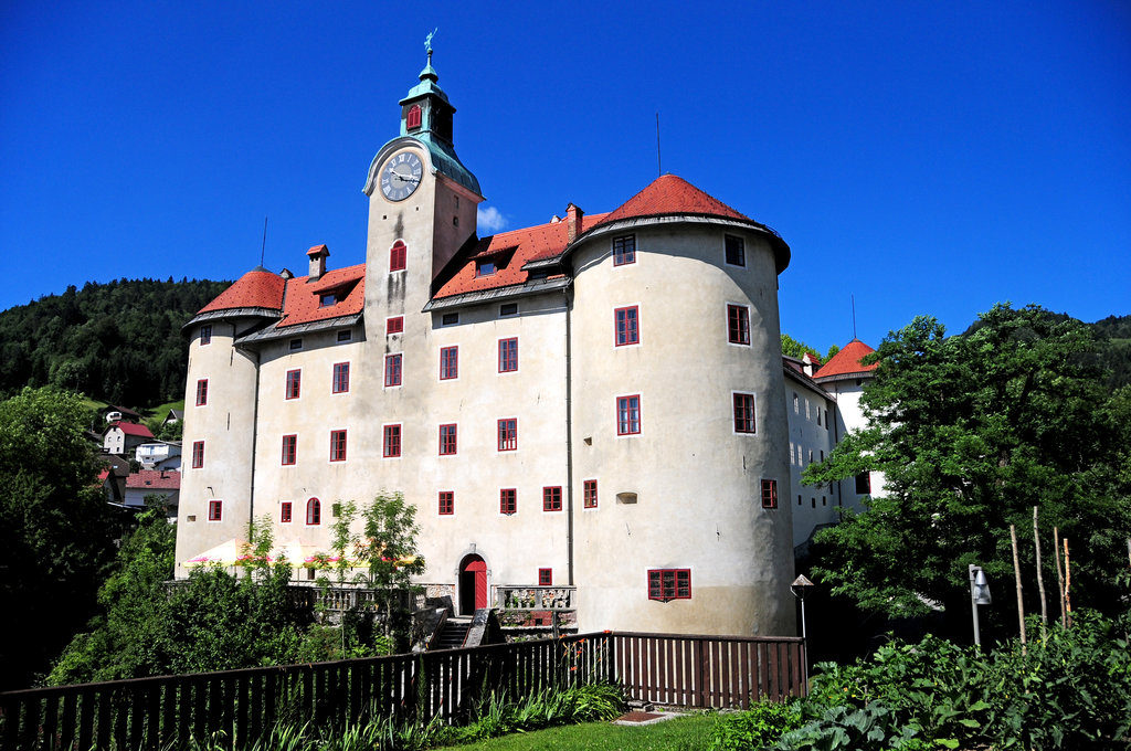 Gewerkenegg castle in Idrija. Source: TIC Idrija