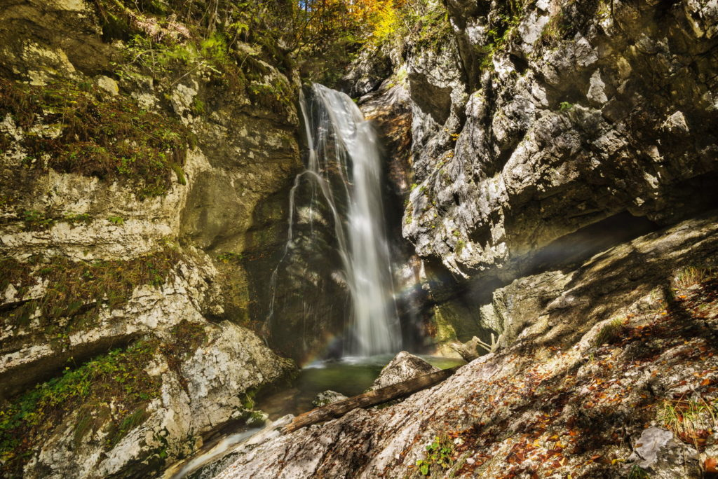 Mostnica waterfall. Source: Shutterstock